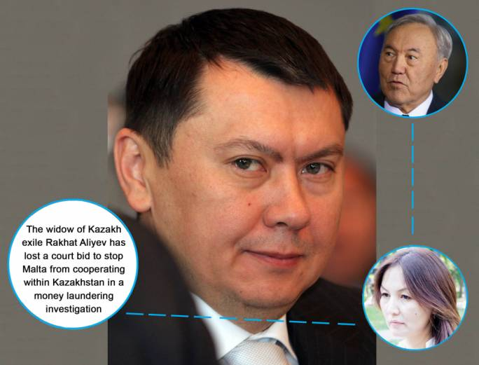 Rakhat Aliyev. After falling out of favour with former father-in-law and Kazakh dictator Nursultan Nazarbayev (top right) he lived in exile. His second wife Elnara Shorazova (bottom) insists he was killed in prison