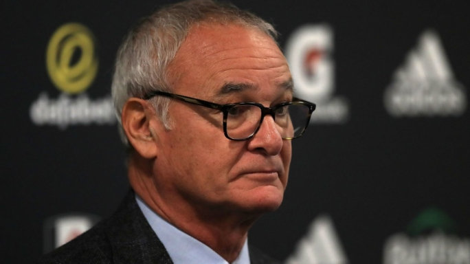 Claudio Ranieri during his first press conference as Fulham manager