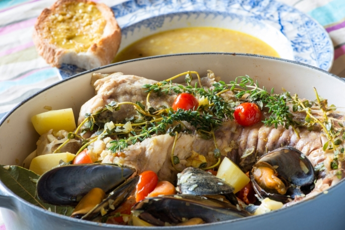 Bouillabaisse with homemade rouille