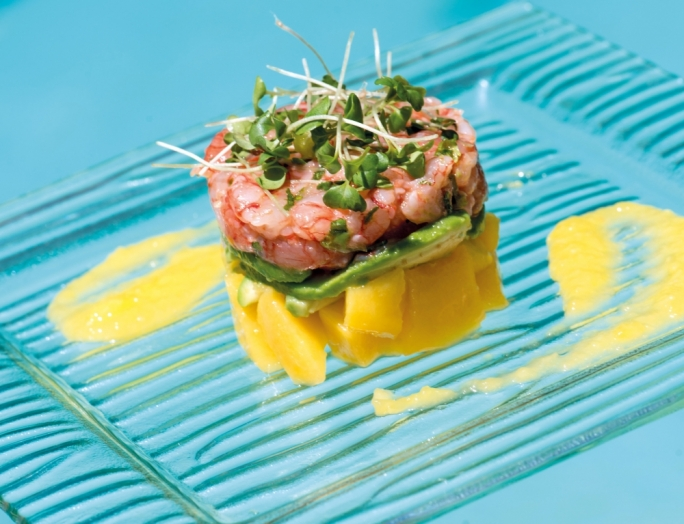 Prawn, mango and avocado tartare