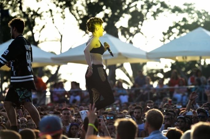 Kiesza hits the Isle of MTV stage. Photo by Ray Attard