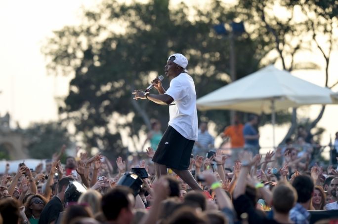 East London rapper Dizzee Rascal at Isle of MTV last night. Photo by Ray Attard