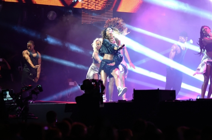 Nicole Scherzinger performs at Isle of MTV last night. Photo by Ray Attard