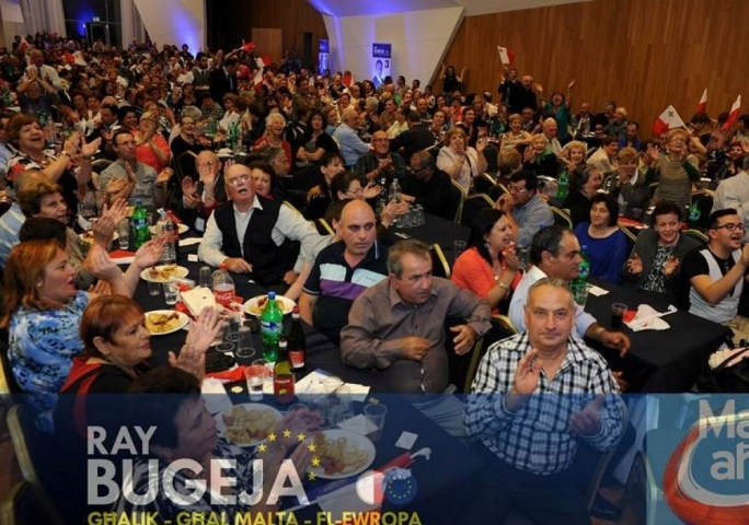 One of Ray Bugeja's campaign events: catering was also provided by his own company.