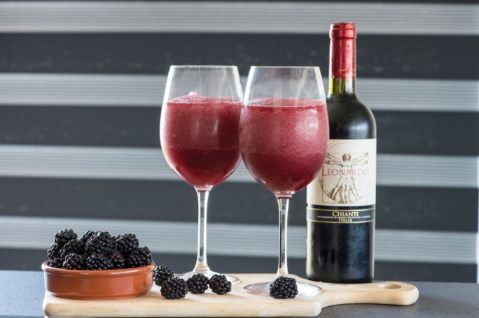 Blackberry merlot slushies