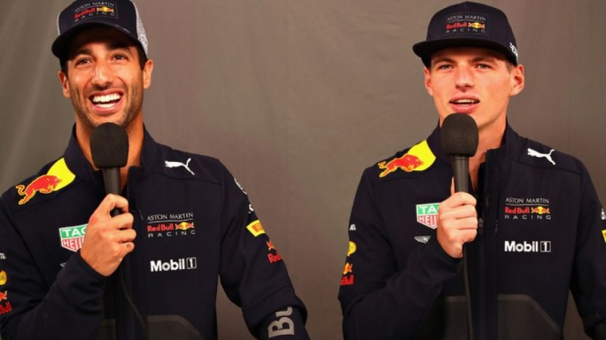Max Verstappen (right) and Daniel Ricciardo