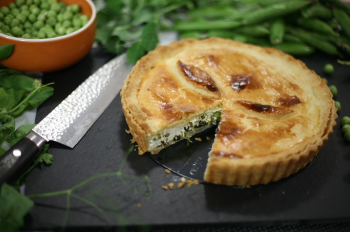 [WATCH] Ricotta, feta and pea pie