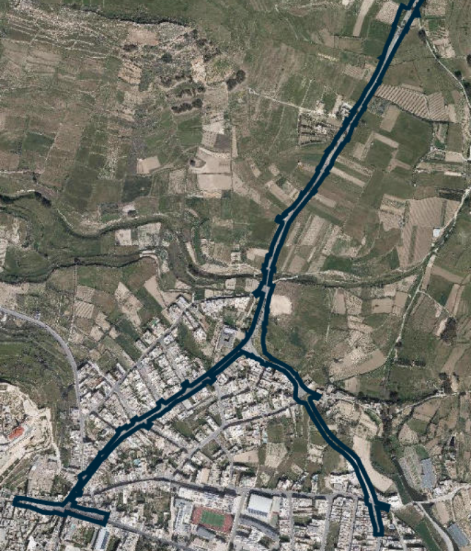 The roads between Marsalforn and Rabat which were proposed to be widened