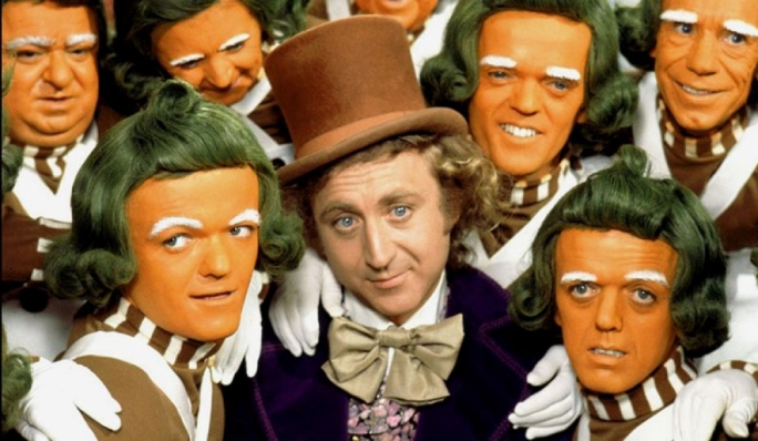 Golden Hollywood: Charlie and the Chocolate Factory on the silver screen with Gene Wilder in the part of Willy Wonka