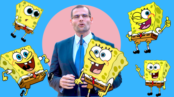 [WATCH] Memes out! Square-jaw Rob's daughter calls dad 'Spongebob' on Xarabank