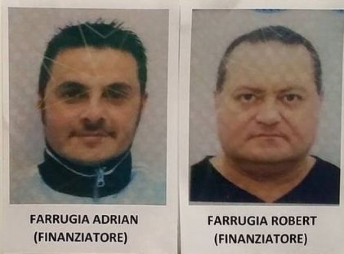 Robert Farrugia (right) told Felice Bellini that Chinese gamblers wanted to kill brother Adrian (left) after losing €52,000 on a Lega Pro match.