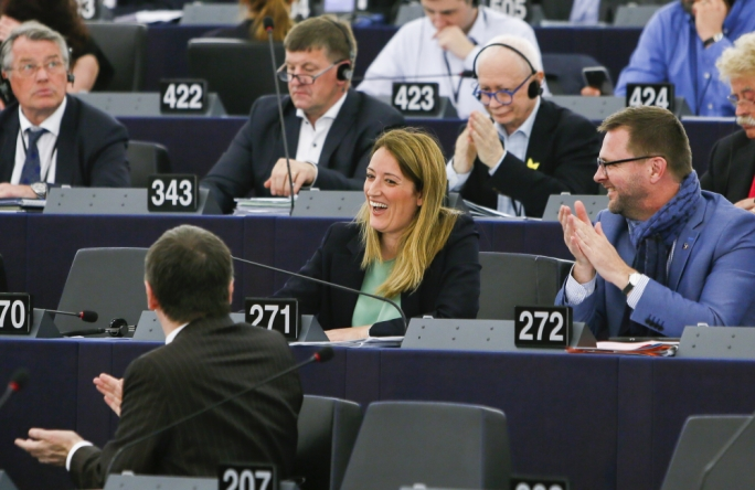 [WATCH] History is made as Metsola elected First Vice-President of the European Parliament