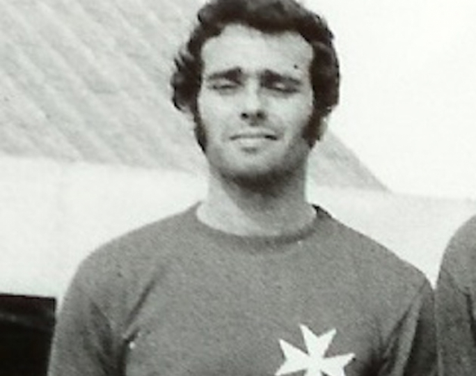 Ronnie Cocks in one of his appearances for Malta