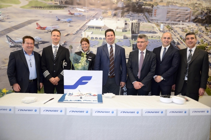 First Finnair flight lands in Malta