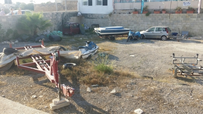 Images forwarded to the newsroom show the area being used as a dumping site in Marsaskala