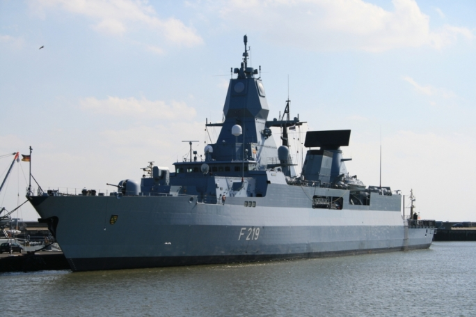 The German frigate Saschsen was previously dispatched to the eastern Mediterranean to support military action against the Islamic State