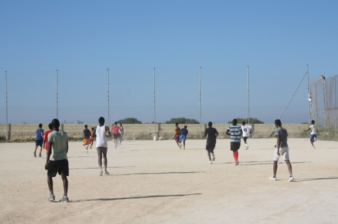 Football brings young migrants and locals together