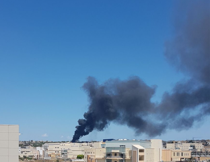 A fire broke out in San Gwann (Photo: Miriam Dalli)