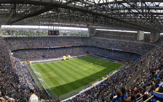Inter and AC Milan shared Giuseppe Meazza / San Siro stadium since 1947