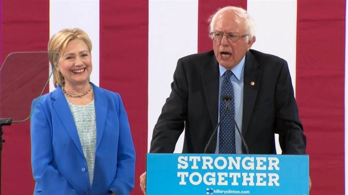 Bernie Sanders urged delegates to vote for Hillary Clinton