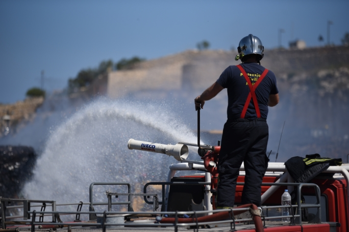 Firefighters were called in to put out a fire in a Qrendi garage (File photo)