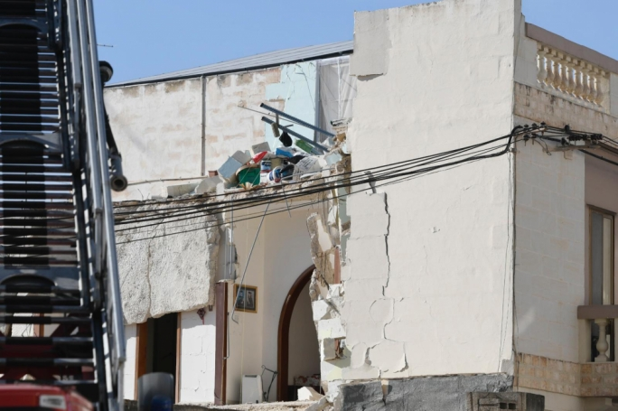 The two-storey house in Hamrun collapsed, killing its occupant Miriam Pace