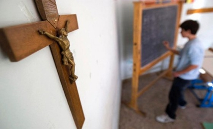 Further investigations concluded that the cross was removed for classroom restoration purposes