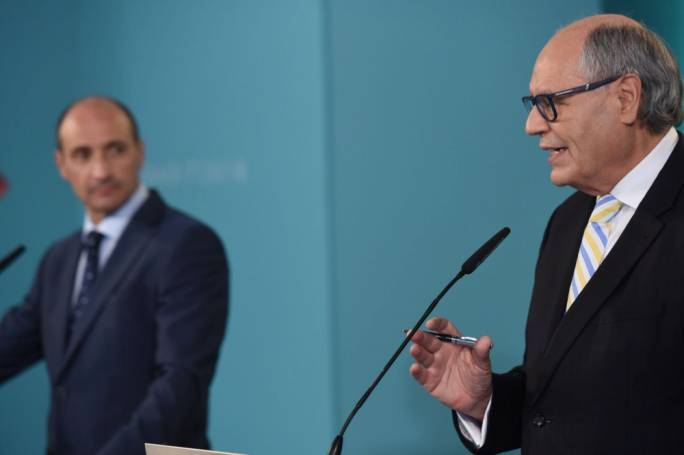 Deputy Prime Minister Chris Fearne (left) and Finance minister Edward Scicluna (right)
