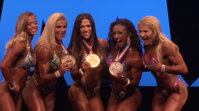 The top 5 of the 2016 Fitness Olympia