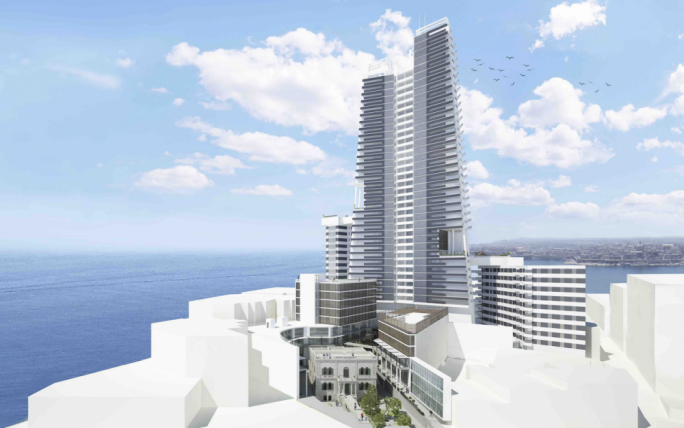 Architect's' rendition of the 38-storey development in Sliema