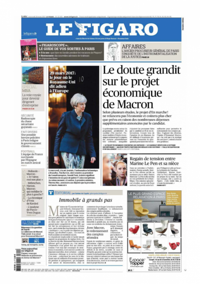 Le Figaro's font page