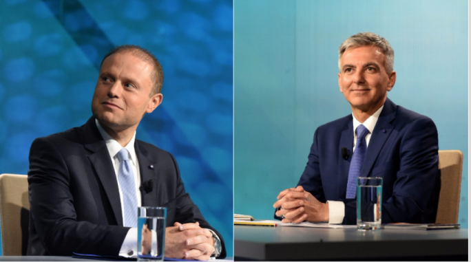 Joseph Muscat and Simon Busuttil faced off in Brodcasting Authority leaders' debate