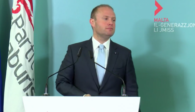 [WATCH] New citizenship scheme will keep Malta on the 'globalisation treadmill', Muscat tells party faithful