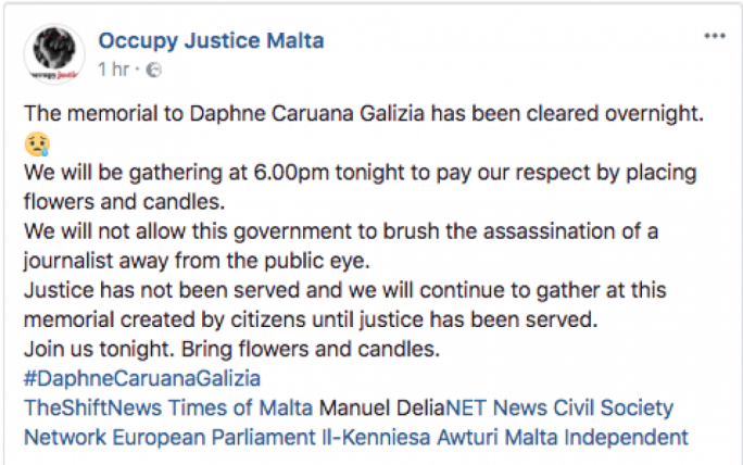 Civil Society Network said they would be paying their respects alter tonight