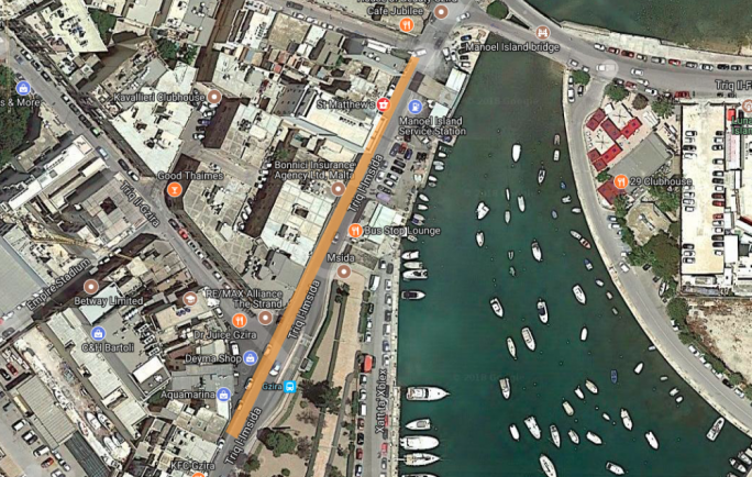 Road works on Triq L-Imsida, Gzira to start tonight