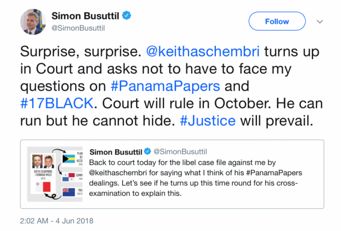 Simon Busuttil's sarcastic 'surprise'