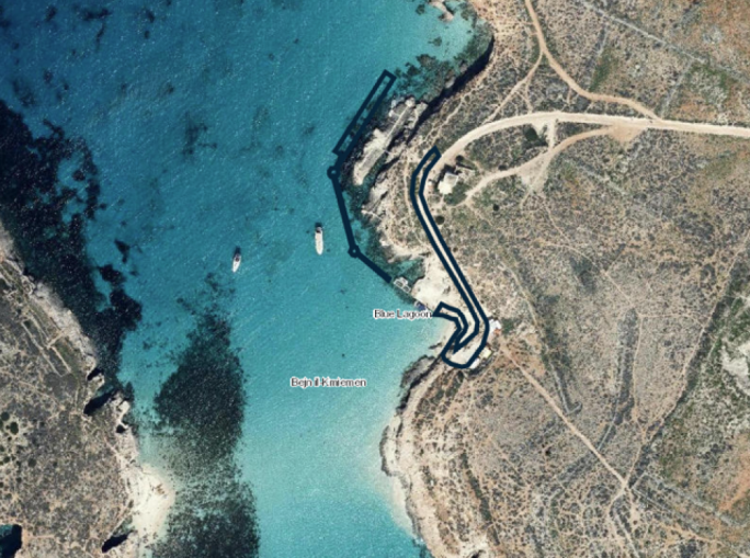 The new infrastructure will be constructed in the panoramic rocky area between Comino and the Kemmunet islet outside the swimming zone.
