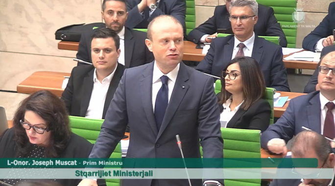 Prime Minister Joseph Muscat gave an update on the Brexit situation, and how this will affect Malta, in Parliament this afternoon