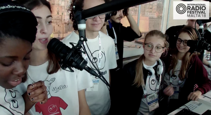 Amazing: Italy's Radio Immaginaria's young radio DJs keep everyone entertained