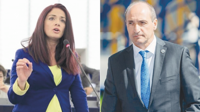 Miriam Dalli (left) and Chris Fearne (right)