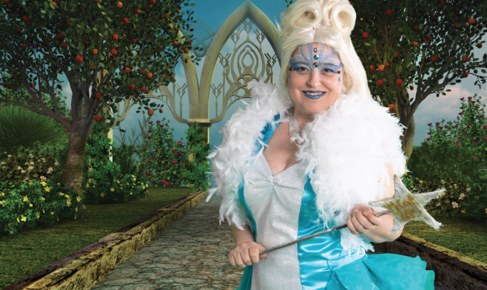 Katherine Brown as the 'bad fairy'