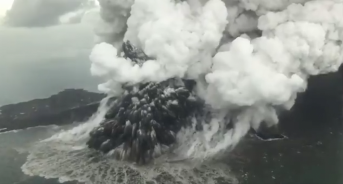 The volcano on Anak Krakatau is erupting again, sparking fears of a new tsunami