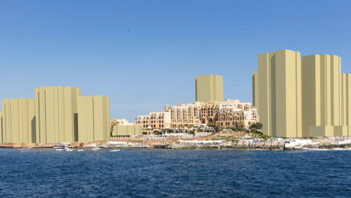 A draft masterplan seen by MaltaToday includes a total of twelve blocks ranging from eight to 21 floors