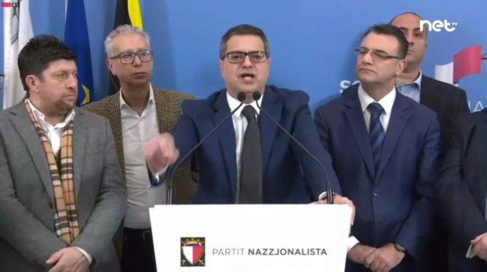 [WATCH] Adrian Delia says that 90% of true Nationalist Party supporters are behind him