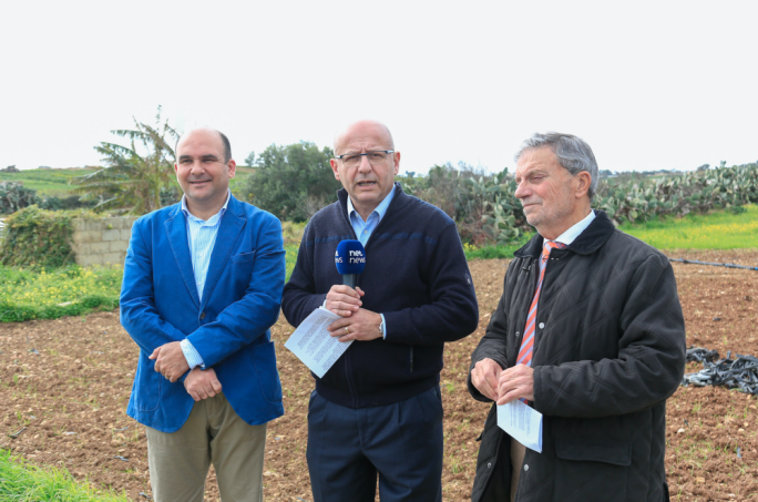 From left: PN MEP candidate Peter Agius, PN MP Edwin Vassallo and local elections candidate Antoine Attard