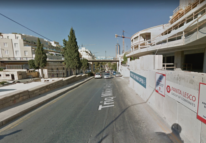 The police caught the man defecating in Triq Mikiel Ang Borg in St Julian's (Photo: Google Maps)