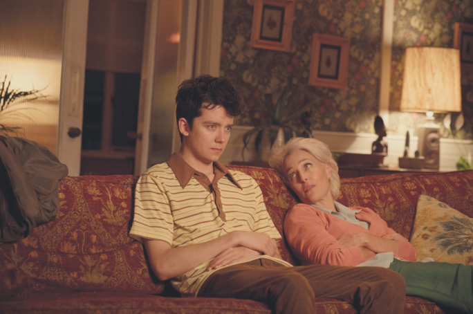 Birds and the bees: Gillian Anderson and Asa Butterfield are an endearingly awkward mother-son duo in Sex Education