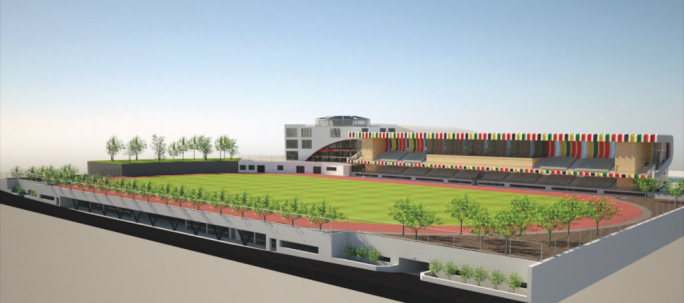 An artist's impression of how the university sports complex will look. The complex will include an underground car park that will also be used by the community