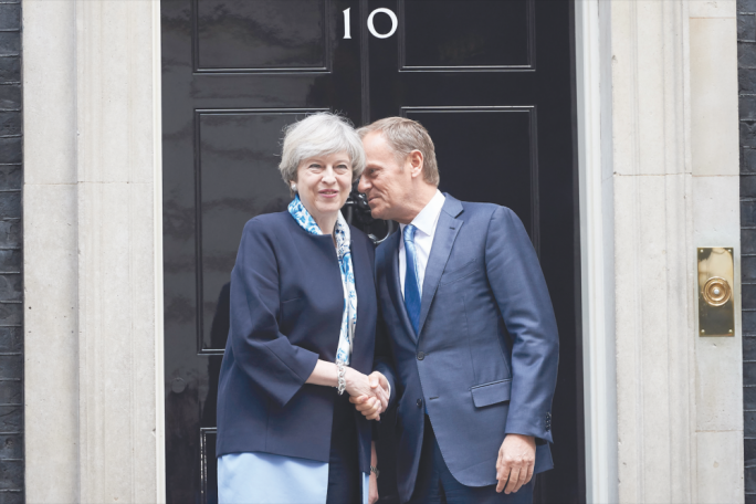May's request and Tusk's response have brought into focus the prospect of the UK crashing out of the EU without a deal
