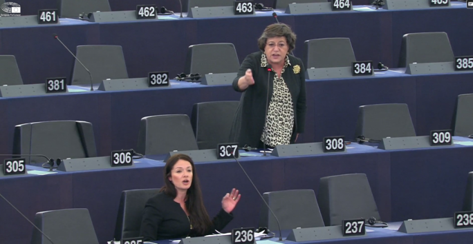 Labour MEP Miriam Dalli and Portuguese MEP Ana Gomes were asked by the European Parliament Speaker to take their heated discussion outside the Strasbourg building
